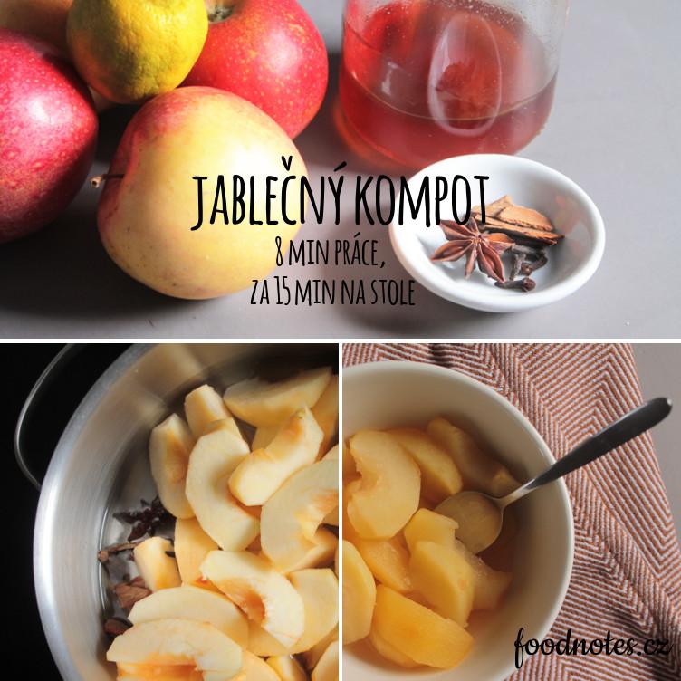 Recept na rychlý jablečný kompot