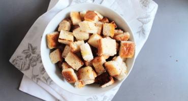 Recept na domácí krutonky nejen do polévky