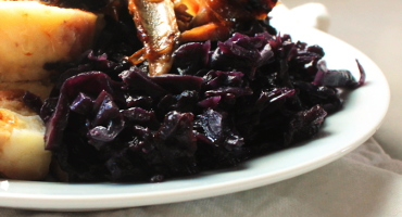 Recept na jednoduché dušené červené zelí