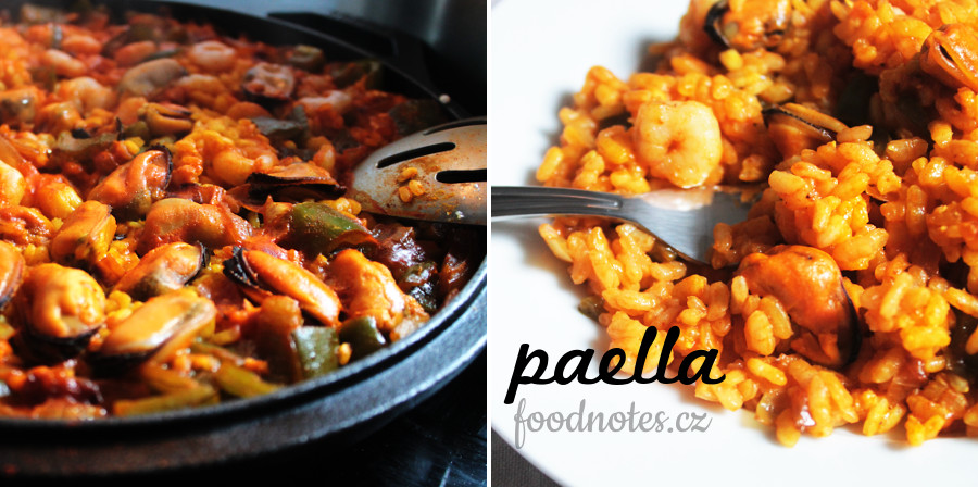 Jednoduchá domácí paella de marisco