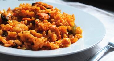 Recept na paellu s mořskými plody