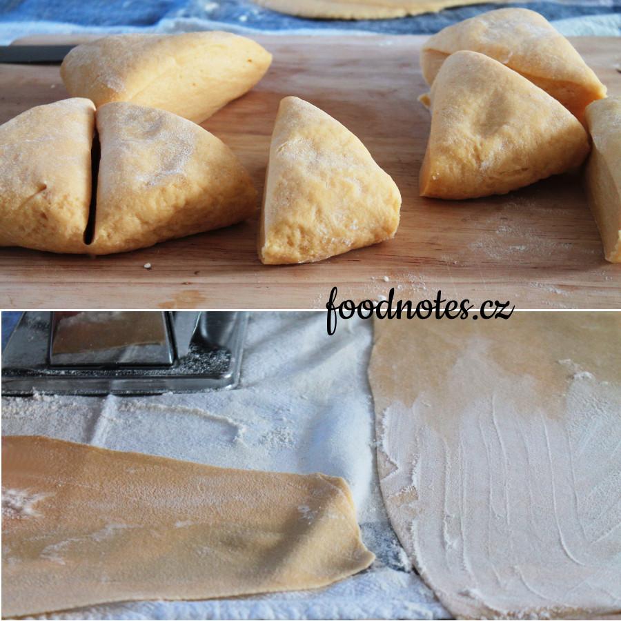 Domácí výroba těstovin, jednoduchý recept