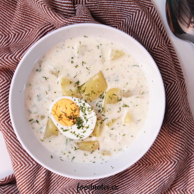 Jednoduchá domácí kulajda - recept bez hub i s houbami