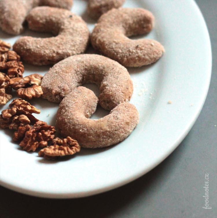 Recept na domácí vanilkové rohlíčky z vlašských ořechů