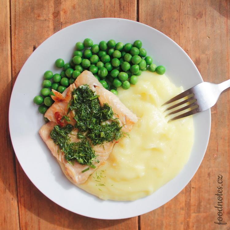 Recept na přípravu bylinkového - koprového másla k rybě