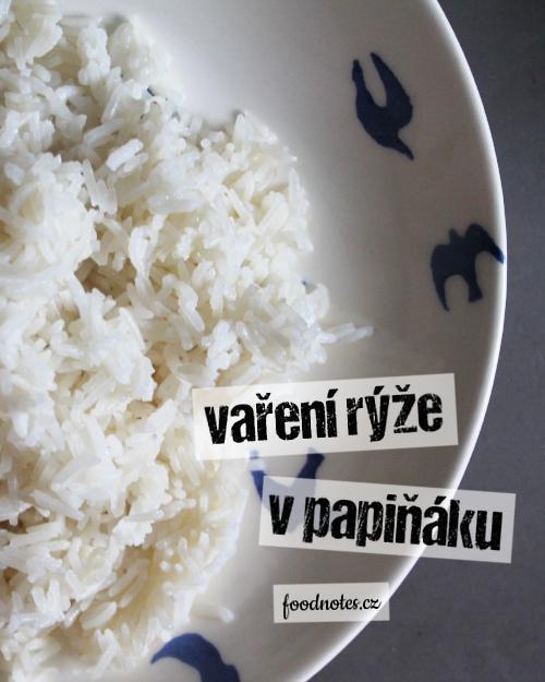 Jednoduché vaření rýže v papiňáku